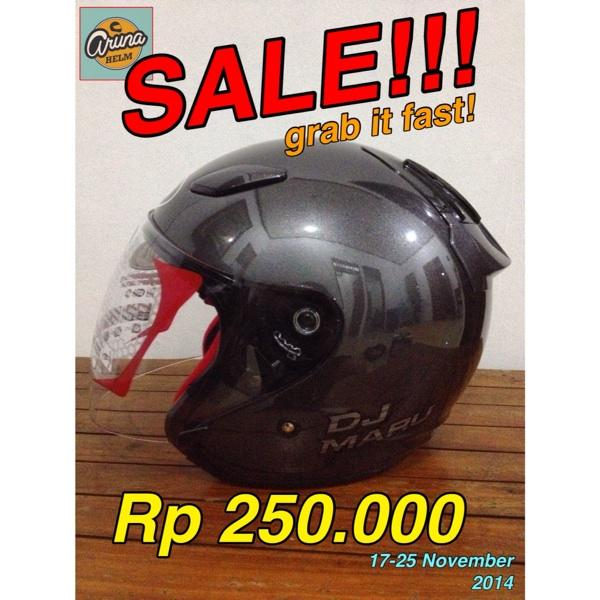 SALE! Helm Kyt DJ Maru dark grey. Size M