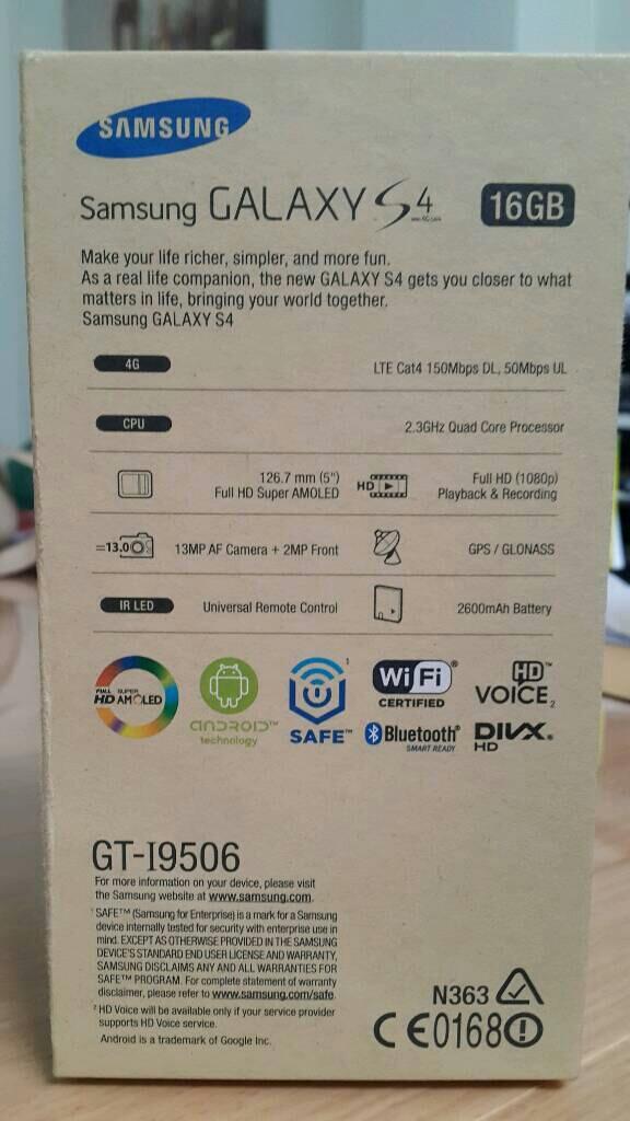 SAMSUNG GALAXY S4 GT-I9506 4G LTE (White Frost)