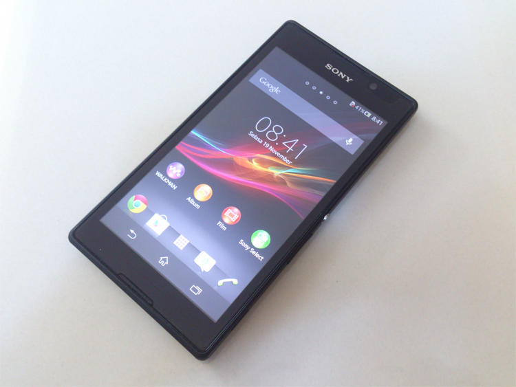 Sony Xperia C Hitam, Grs Agustus 2015, Bisa TT [Malang]