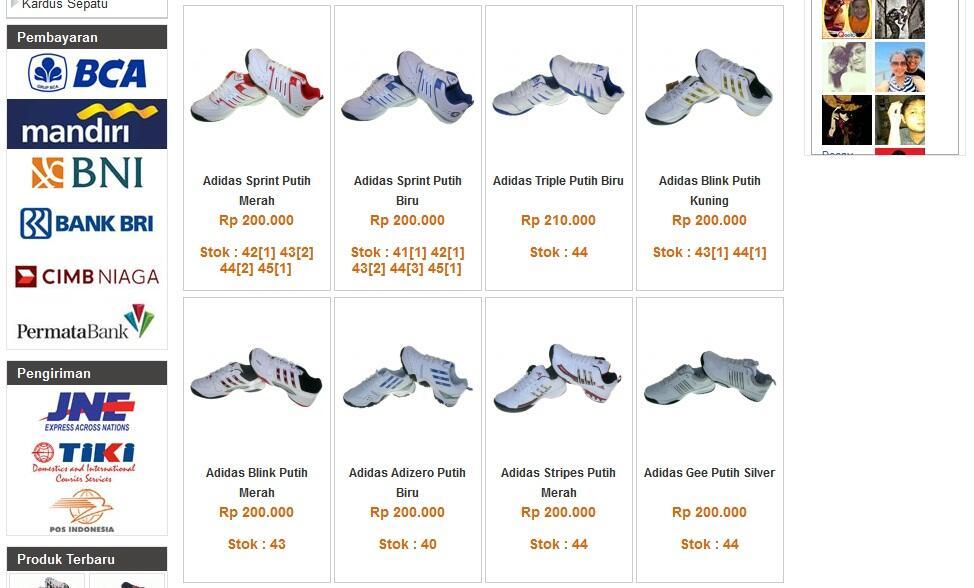 [Ready Stok] Sepatu Tennis / Badminton Import Grade Ori Adidas Nike [Harga Bersaing]