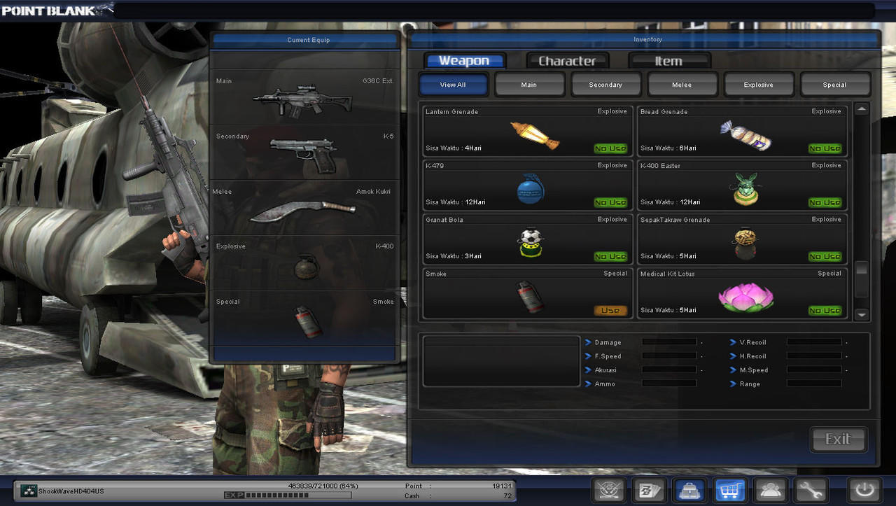 Di jual , Char point blank Colonel grade 5 [ No tipu, Serious buyer only ]