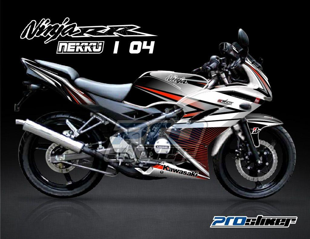 Jual Decal Striping Ninja 150 RR NEW Modifikasi Full Body - PROSTIKER