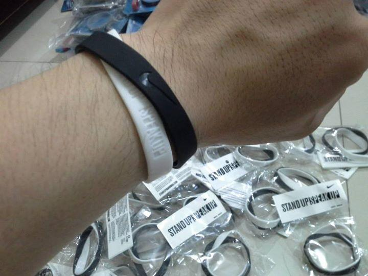 Rubber Gelang nike nba standup i promise livestrong active faith etc