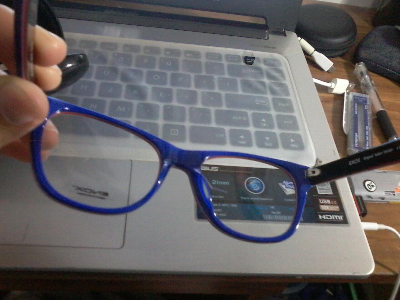 jual frame kacamata enox + voucher optik melawai 480 ribu