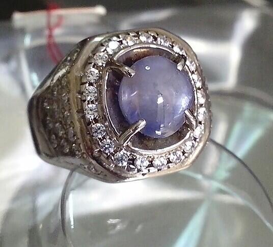 Natural star blue sapphire / safir (corundum) bsc 249