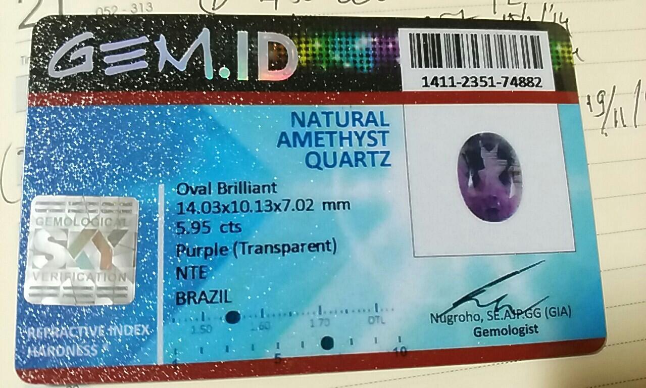 amethys natural no treatment 100% bling bling big size bening abis luster nyala