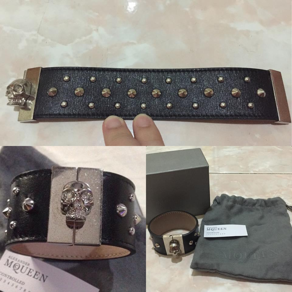 alexander mcqueen leather bracelet 100% authentic