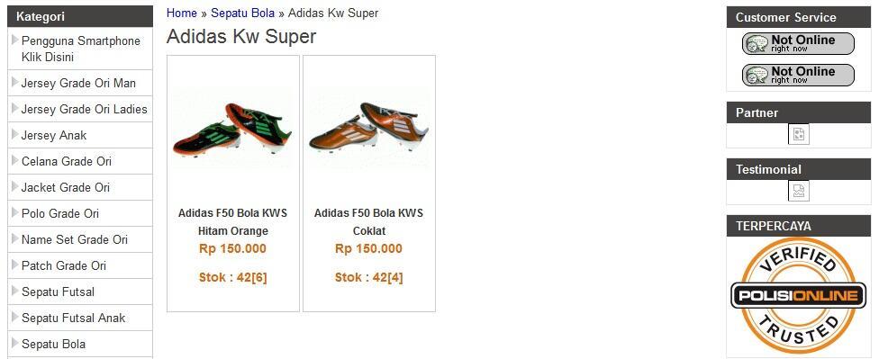 Sepatu Bola Football soccer Kw Super Import & Original Adidas Nike Specs [Ready Stok]