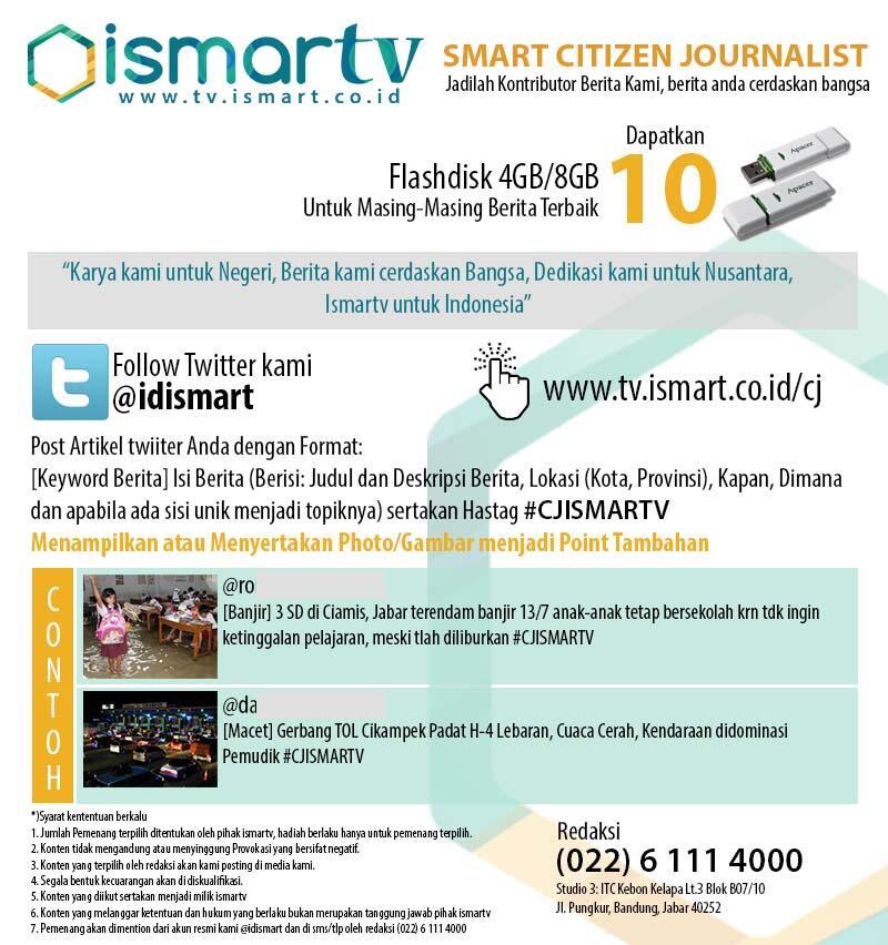 Smart Citizen Journalist Jadilah Kontributor Kami Berita Anda