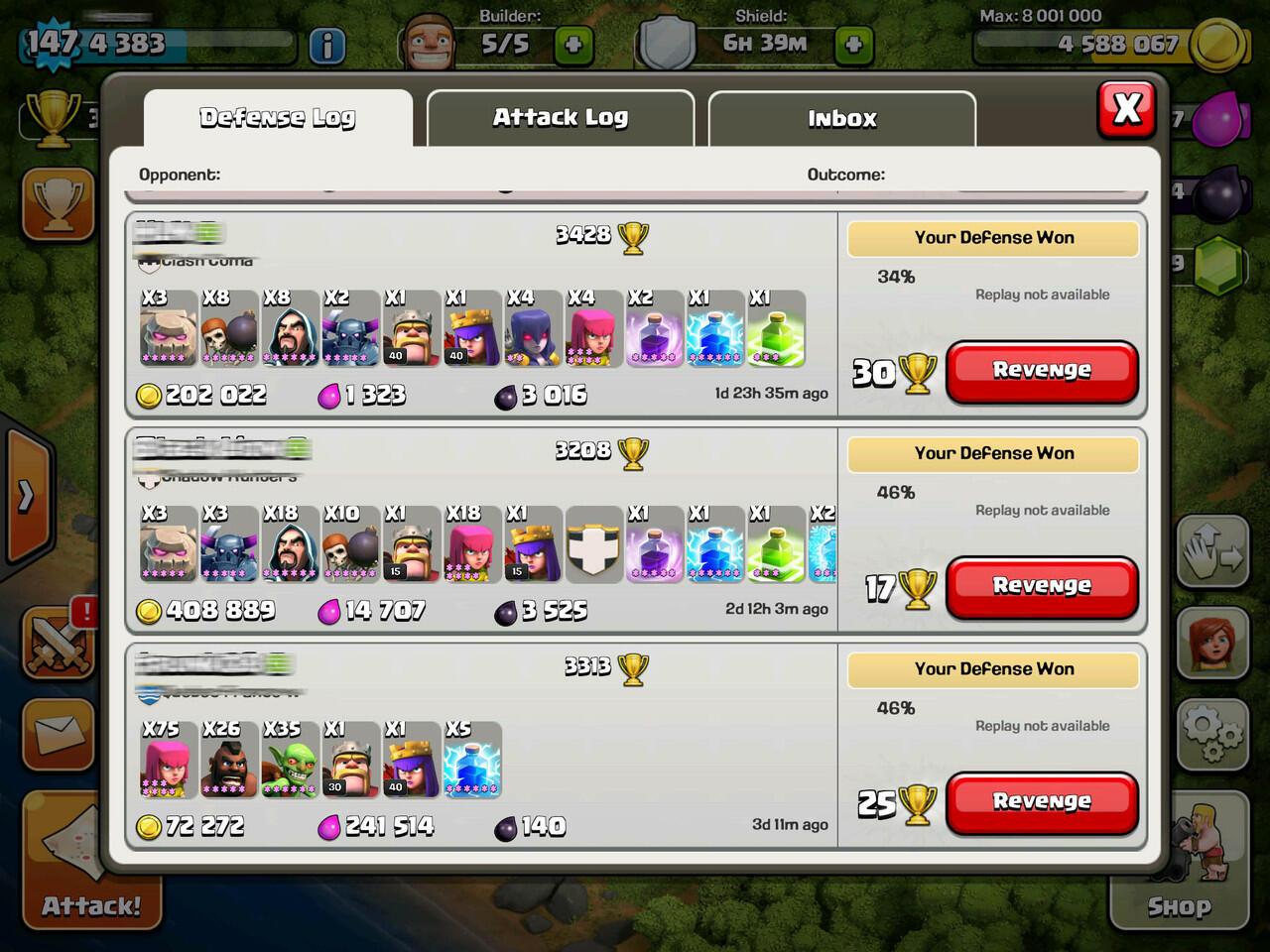 COC Id Level 147 TH10 Champion