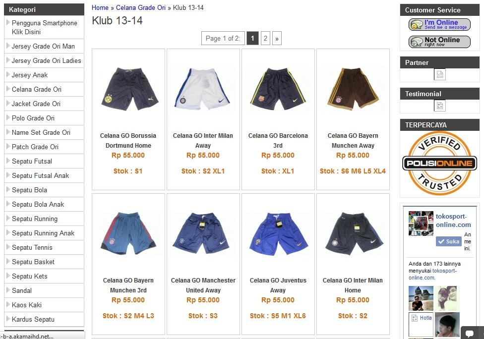 Celana Bola Grade Ori Thailand Club & Negara [Ready Stok Harga Miring] Berkualita