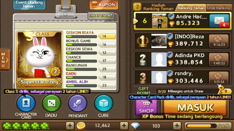 Jual id char line lets get rich