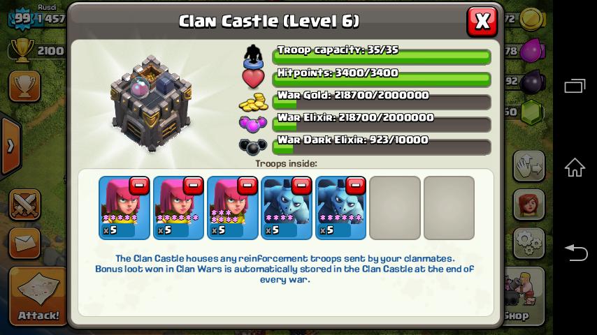 akun COC lv 99 (clash of clans)