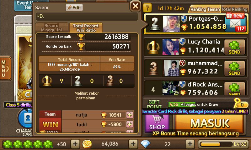 WTS akun get rich . minat pm 085733185557 pin. 7621DA5C . atm only