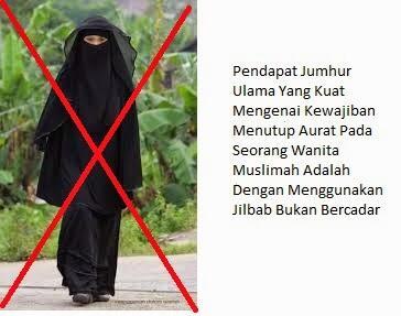 Pakailah Jilbab Syari Bukan Memakai Cadar Khusus Muslim