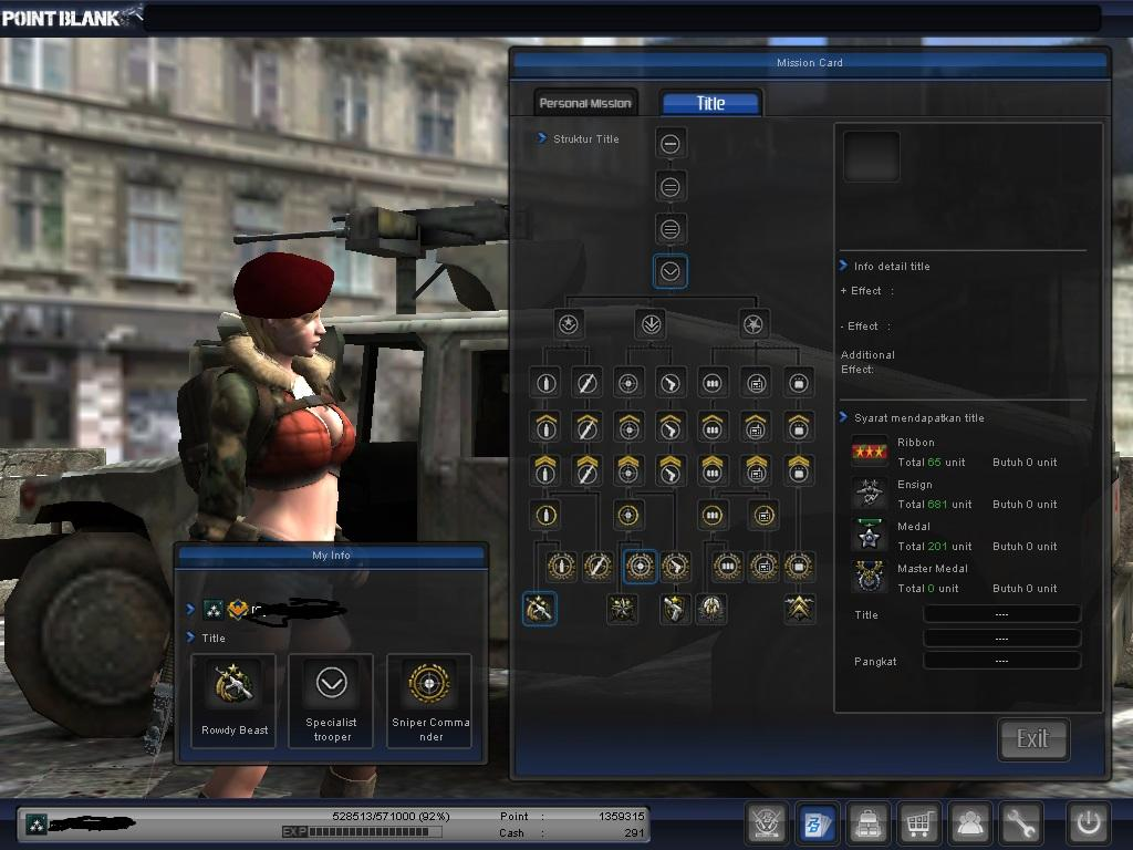 WTS CHAR POINT BLANK COLONEL PENSI