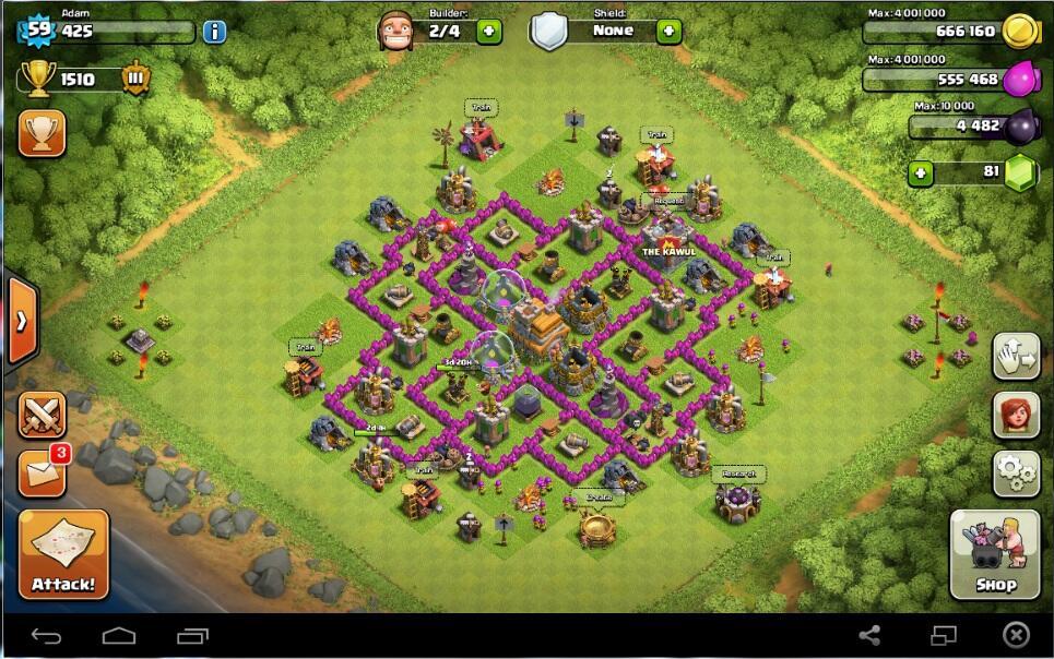 Id Clash Of Clans Coc Th7 Lv59 Kuli 4