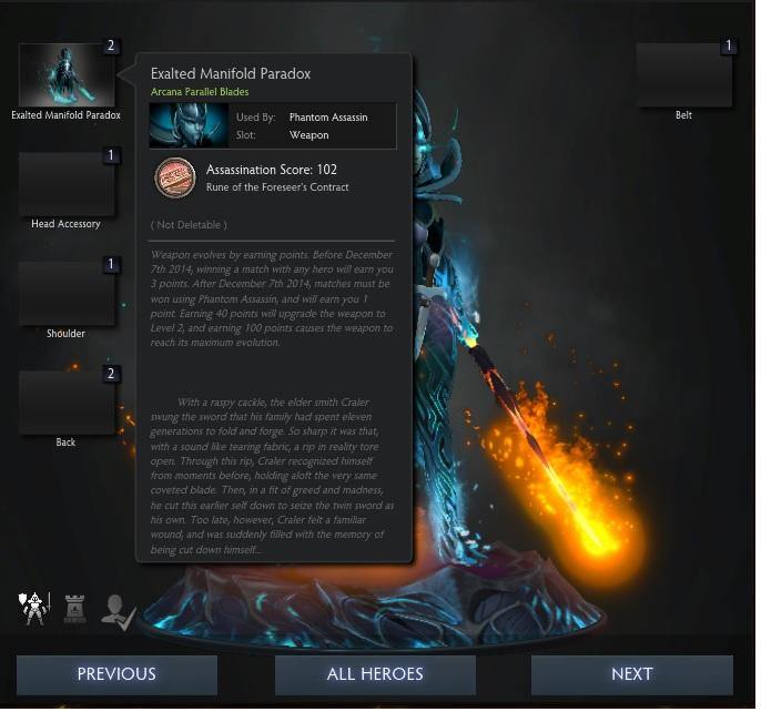 Phantom Assassin Arcana Dota 2 FULL UNLOCK 102 Score