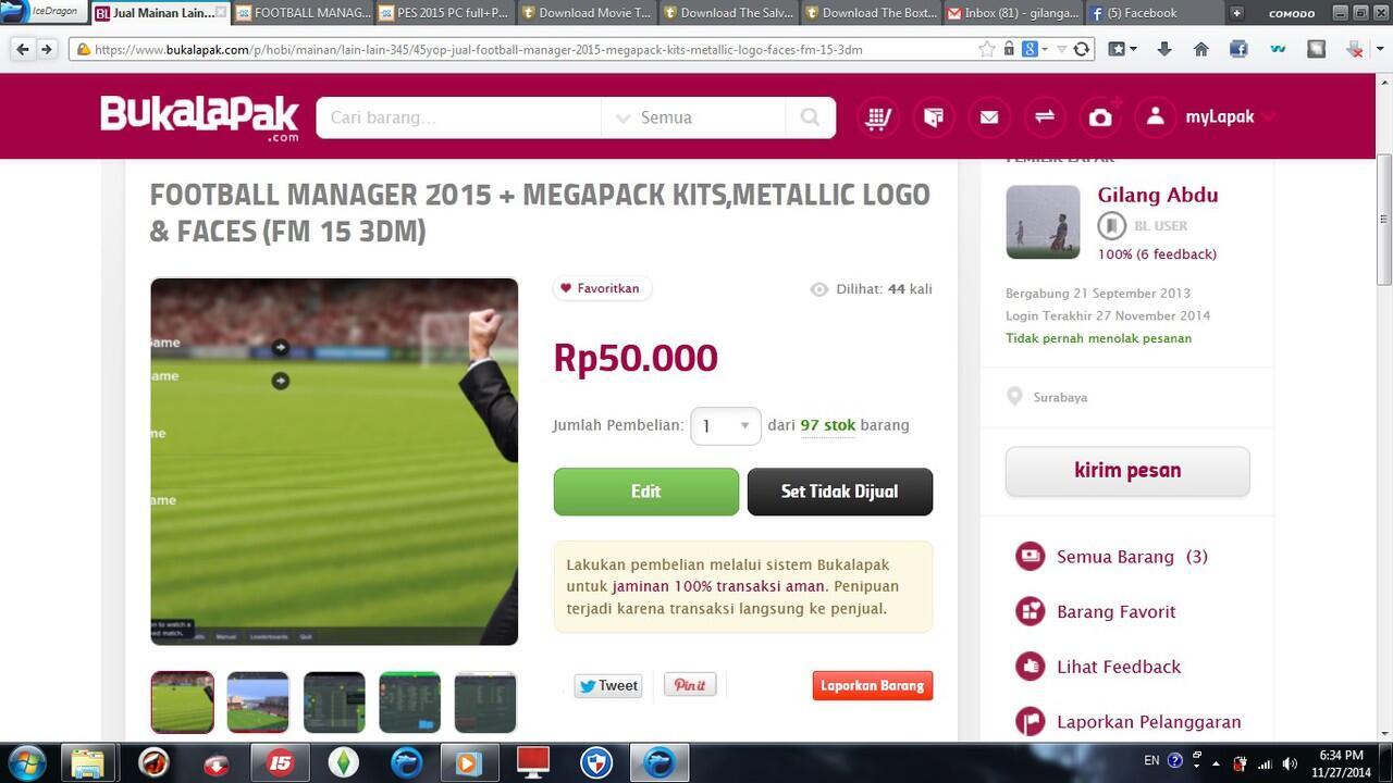 FOOTBALL MANAGER 2015 + MEGAPACK KITS,METALLIC LOGO & FACES (FM 15 3DM)