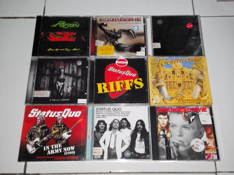CD Murmer Poison, Scorpions, Extreme, Status quo