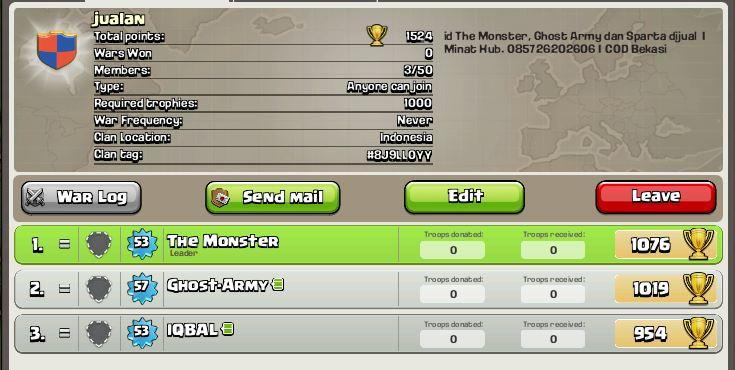 Clash of Clans | Level 53 | Town Hall 7 | Full Pict | Bekasi
