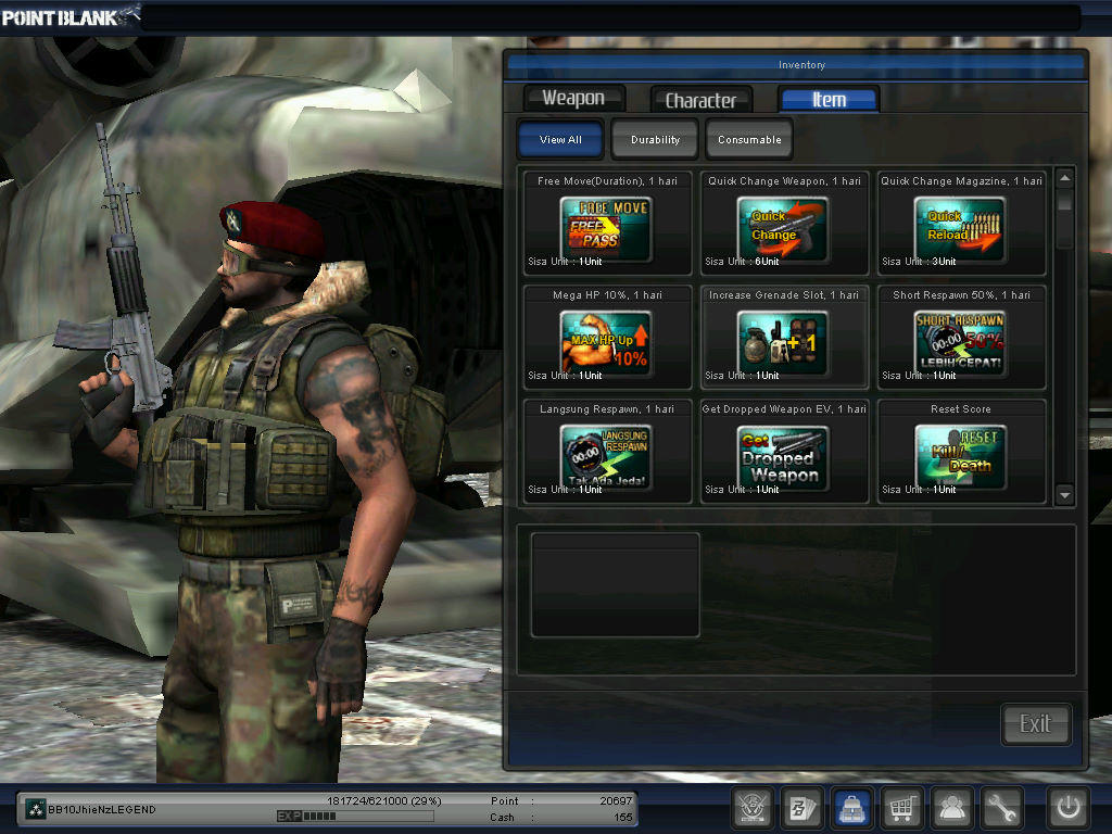 WTS CHAR POINTBLANK COL
