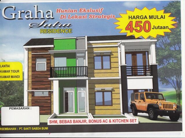 Rumah 2 Lantai Hanya 450jt di Graha Sutra 2 Bintaro Tangsel