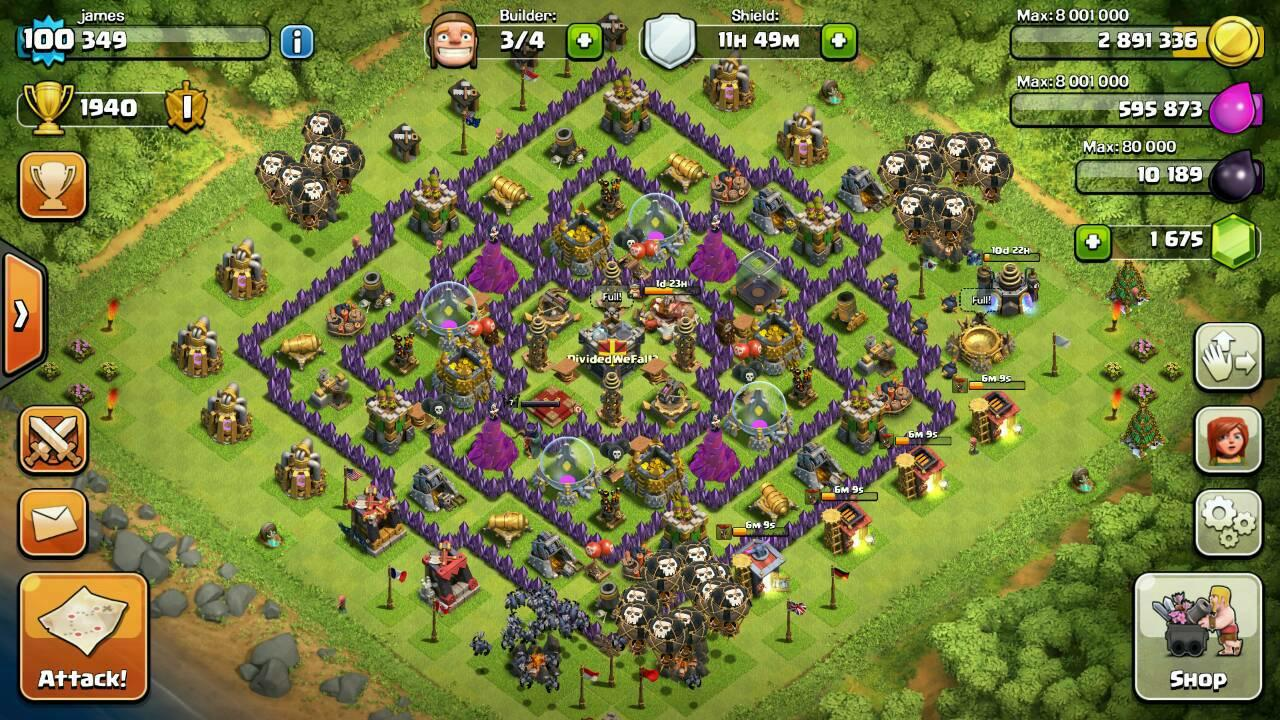 WTS> ID Clash of Clans COC TH 9 LV 100 TROOPS OKE