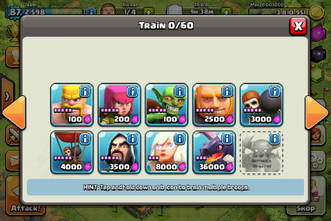 Jual ID Clash Of Clans Town Hall 8