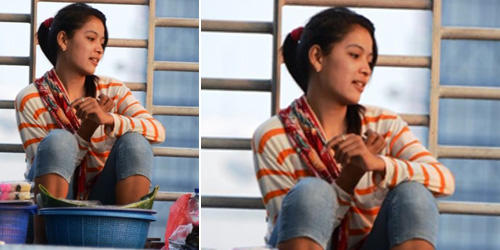Ninih, Gadis Cantik Penjual Getuk di Jakarta Selatan [+pict]