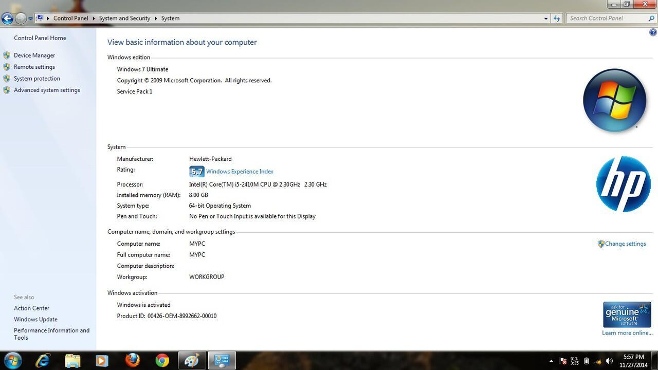 Laptop HP Probook 4430s Core I5 2410M 2,3Ghz Ram 8 Gb Harga Core I3 gan mantapp!