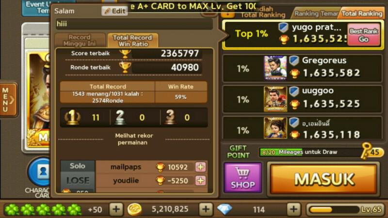 Jual ID Game Line Get Rich level maksimal Bandung