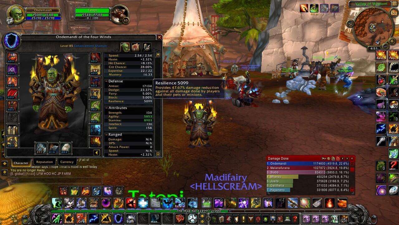 Jual Char Molten Wow Shaman Frostwolf