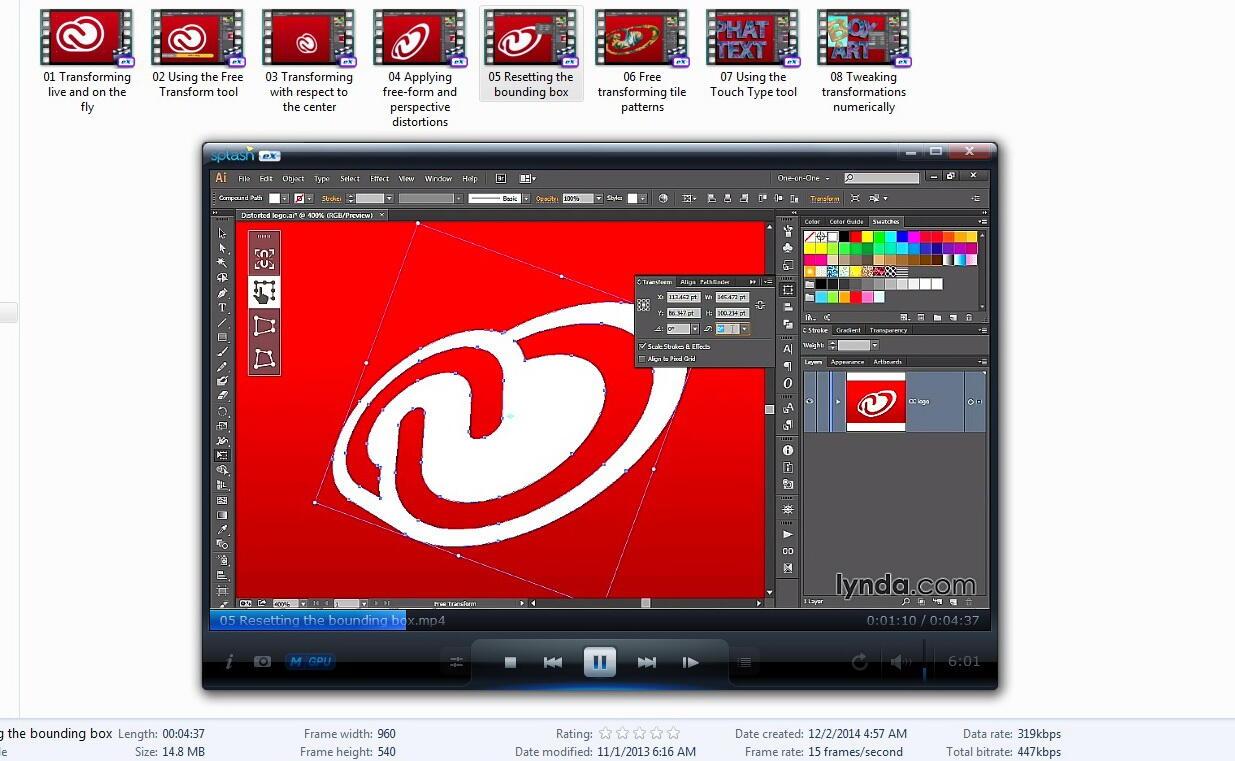 Video Tutorial ADOBE ILLUSTRATOR CC Lengkap (Lynda)