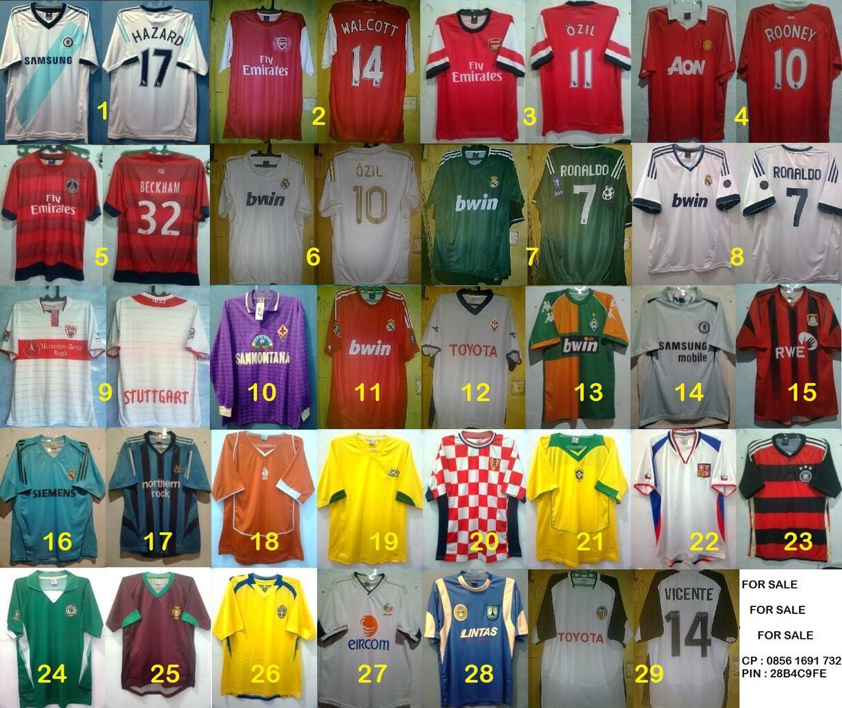 Jersey jadul multi sport, seven star, dsb (collector mari masuk..murah)