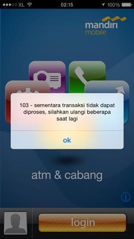 [Parah] M-banking Mandiri / mobile banking mandiri super lemot