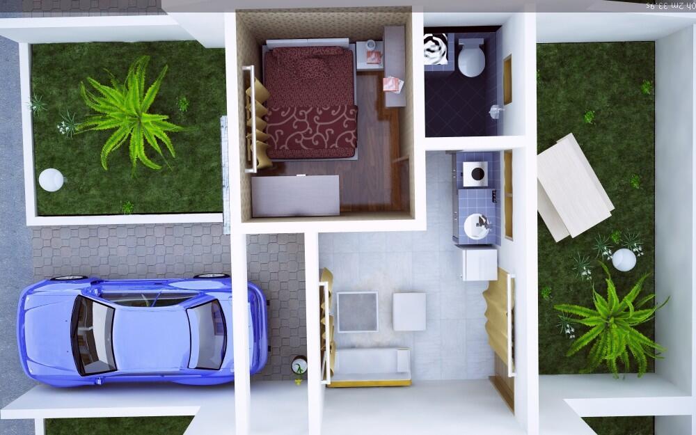 Desain Rumah Minimalis Type 21 Mungil   KASKUS