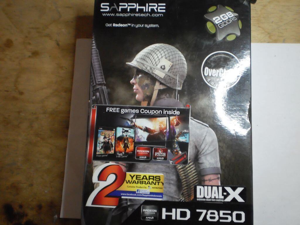 WTS: XFX, Saphire dan MSI radeon 7850 oc edition double fan