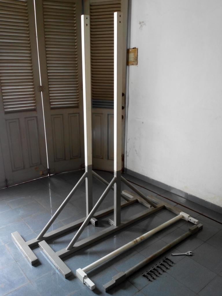 how to build a freestanding pull up bar