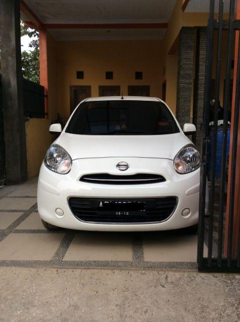 Jual nissan march putih th 2013 manual yogyakarta