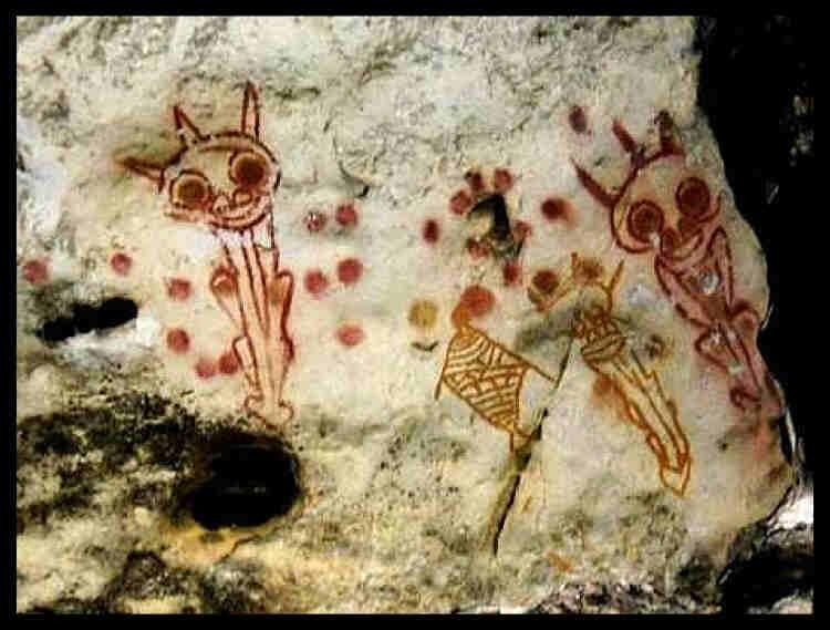 Temuan Gambar Ajaib Mirip Alien di Papua Barat Diselidiki Arkeolog