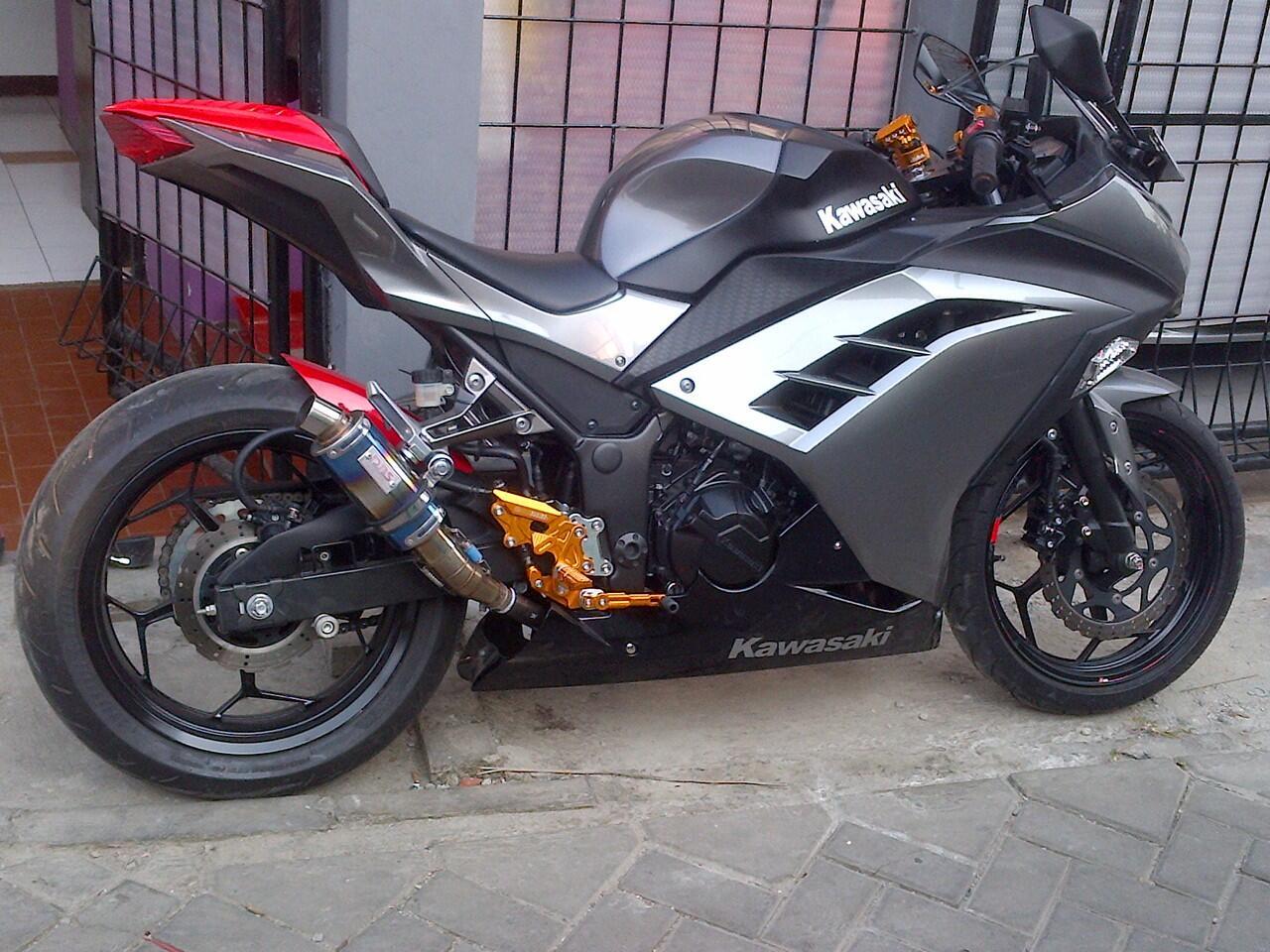 Terjual Kawasaki Ninja 250 Fi 14 Modifikasi