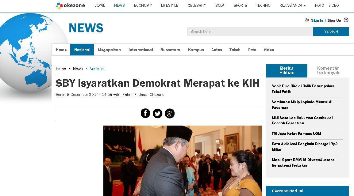 [Panic Mode : ON] Pimpinan KMP Bertemu SBY Bahas Perppu Pilkada