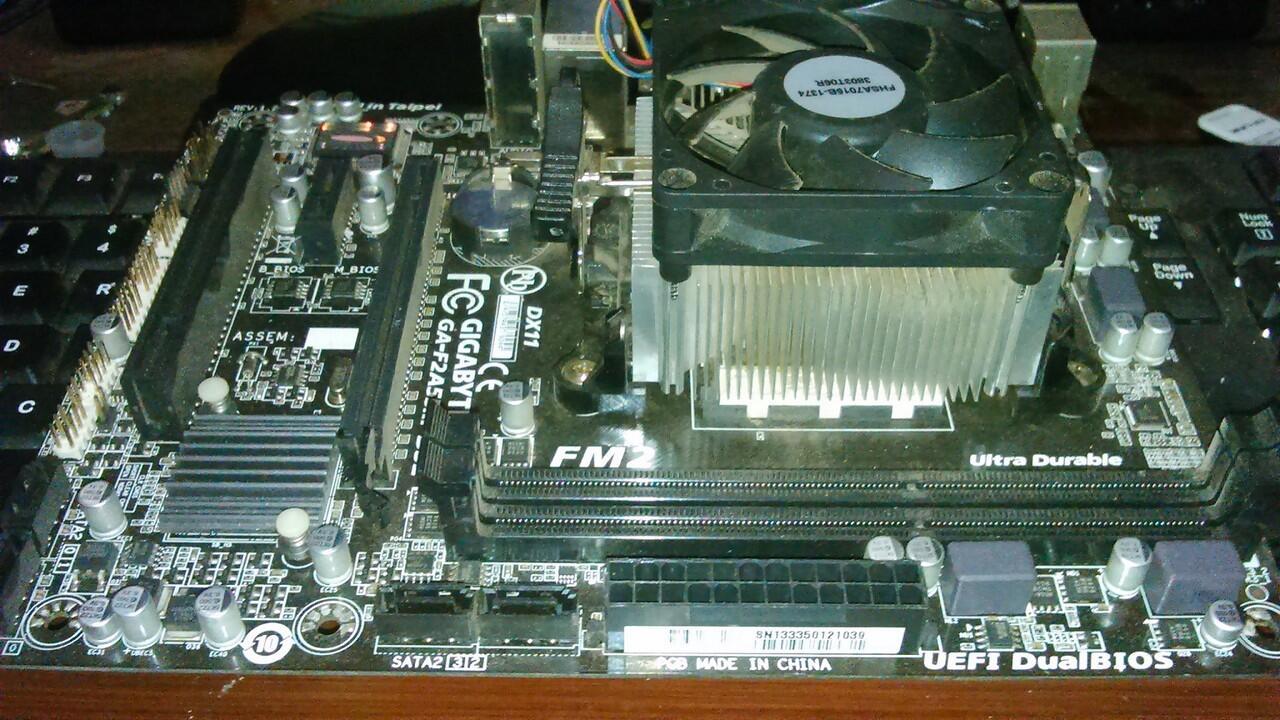 [SEPAKET FM2] GIGABYTE GA-F2A55M-DS2 + AMD Richland A8-6600K (Quad Core) [BANDUNG]