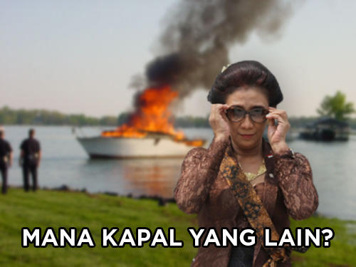'Meme' yang Bikin Susi Cekikikan Ini Dipajang di 3 Gedung KKP