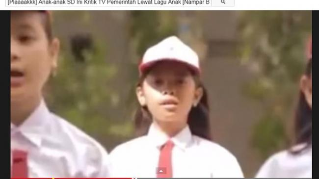 Beredar Video Siswa SD Nyanyi Lagu Parodi Kritik Tayangan Televisi