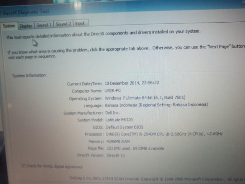 E6320 DELL PREMIUM BISSNIS MODEL ELEGANT BARANG MULUSSSSS