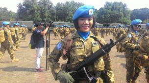 [jones masuk]Tugas ke Lebanon, Prajurit TNI Cantik Ini Diputus sang Kekasih