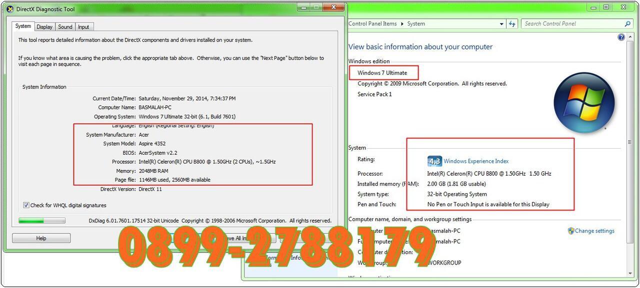 Acer 4352 masih segell 14 inchh. hrddisk 500 gb gan