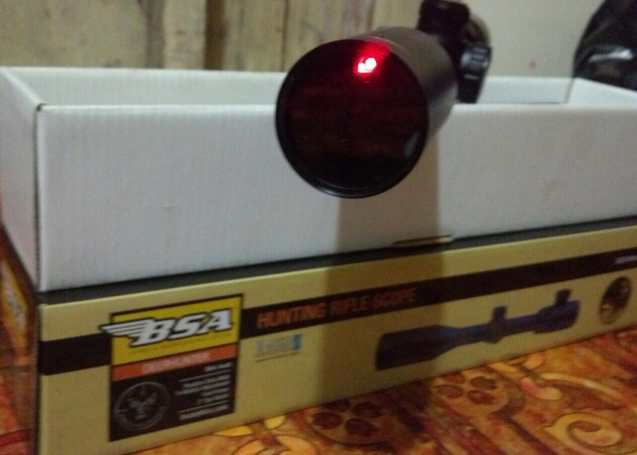 Terjual teleskop bsa sport deerhunter red laser dh mildot